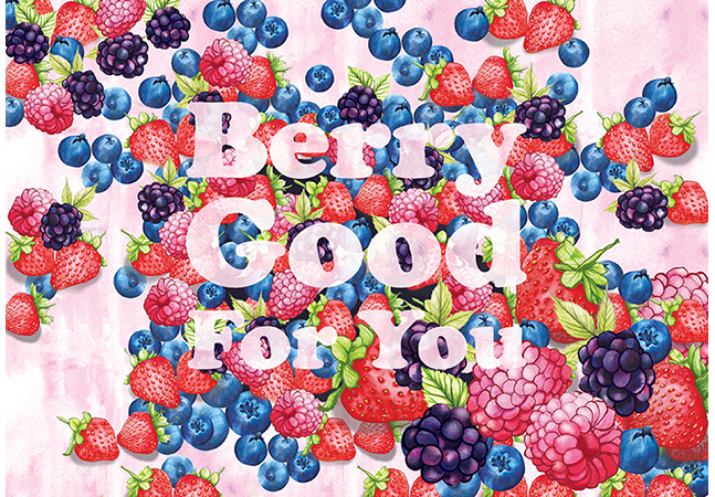 Food illustration Berry Good For You
