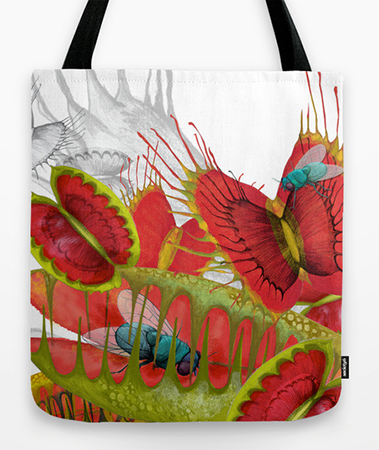 Animals Illustration Venus flytrap tote