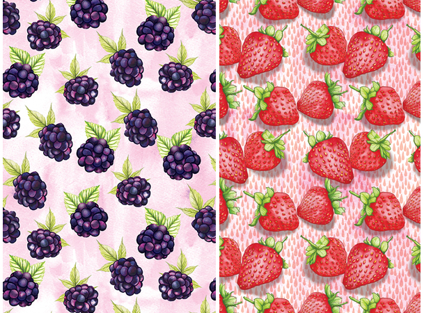 Food pattern Berries