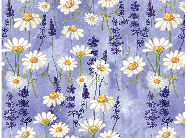 Chamomile And Lavender Pattern