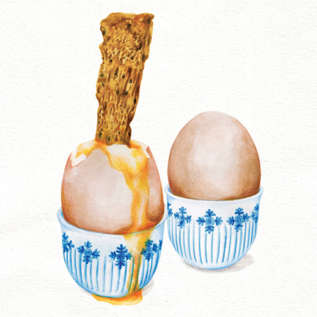 Food illustration Boiled Egg And Soldiers