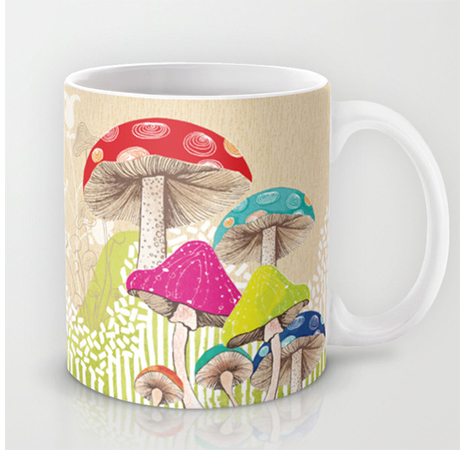Illustration Nature Magical Mushrooms Mug