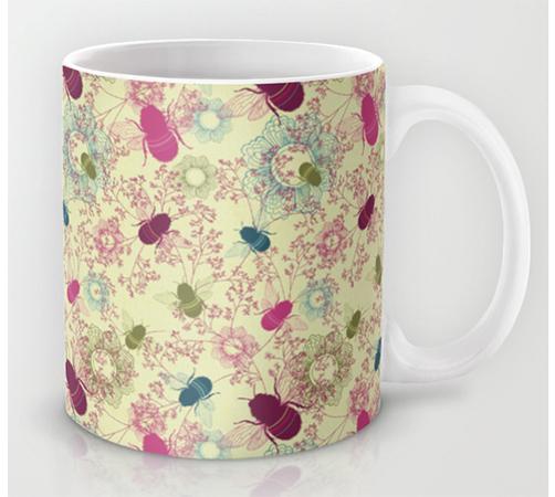 Surface Pattern Busy Bees mug