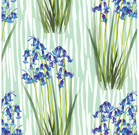Surface Pattern Bluebells