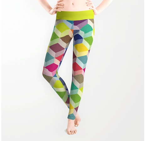 Surface Pattern Cubism leggings