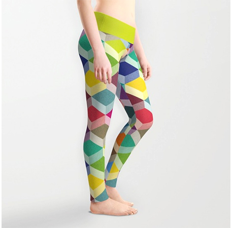Surface Pattern Cubism leggings2