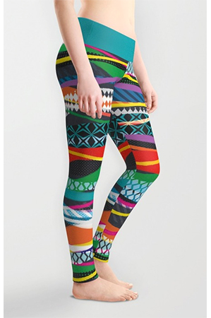 Surface Pattern WaveBlaze leggings2