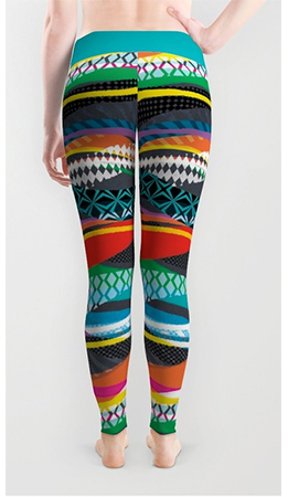 Surface Pattern WaveBlaze leggings