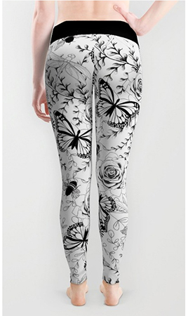 Surface pattern butterflies and bees leggings