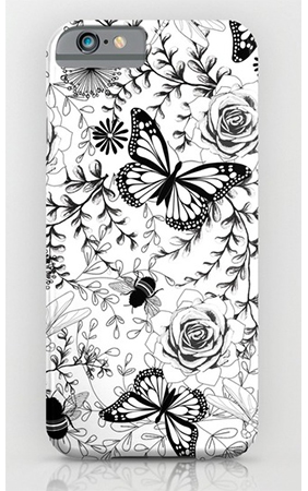 Surface pattern butterflies and bees phone