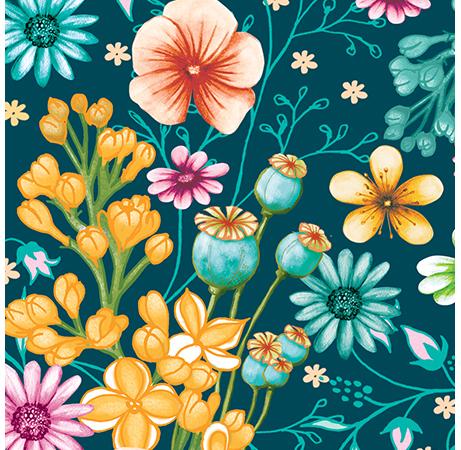 Surface pattern flowers SummertimeZoom