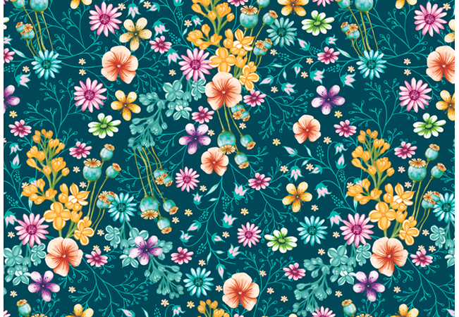 Surface pattern flowers summertime