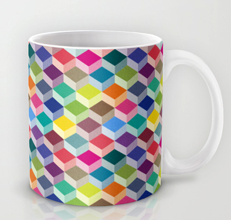 surface Pattern Cubism Mug