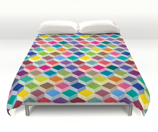 surface Pattern Cubism bedding