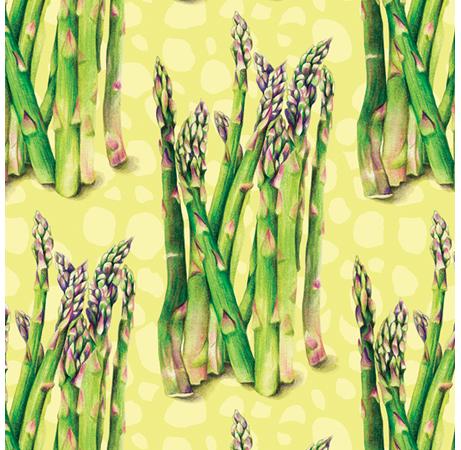 Asparagus Food Pattern