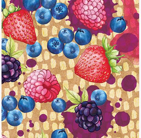 Food Pattern Juicy brightly colored berries2