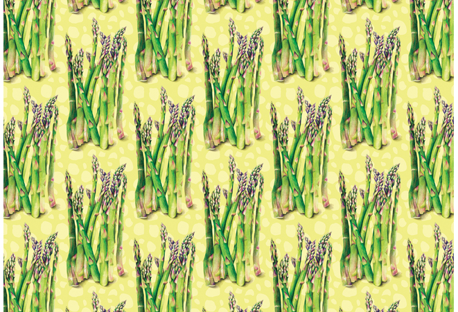 Surface Pattern Asparagus Food Pattern