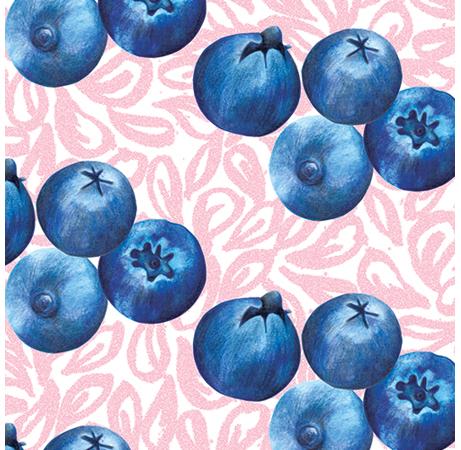 Food Pattern Blueberries