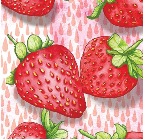 Strawberries food Pattern