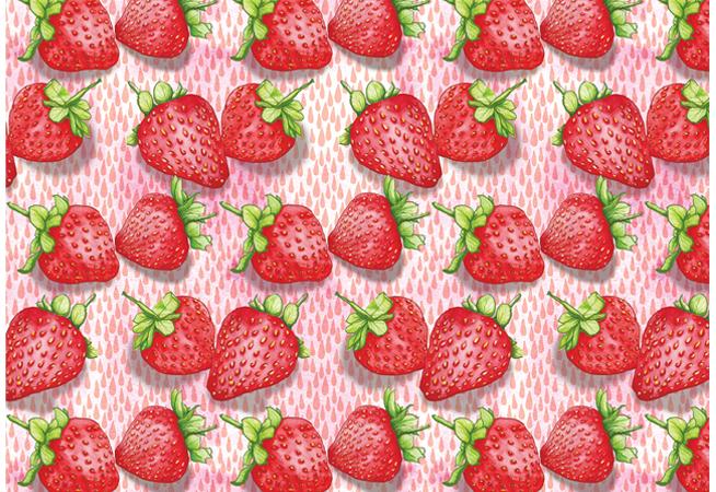 Strawberries food pattern illustration