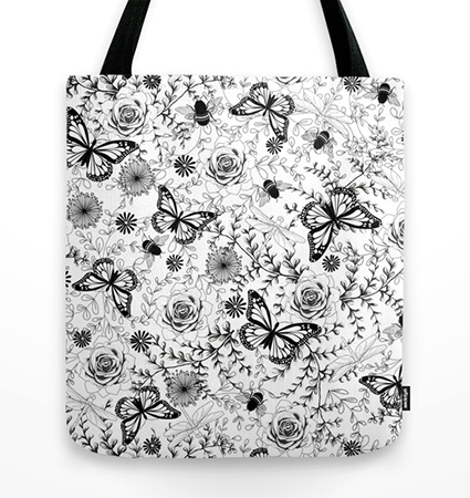 Butterflies And Bees Tote Bag