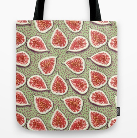 Figs pattern, food, fruit, food pattern, tote bag