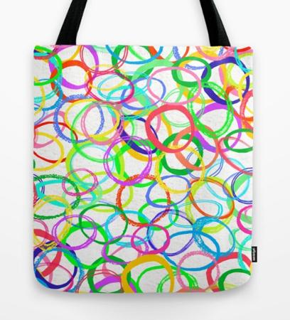 circles pattern design tote bag