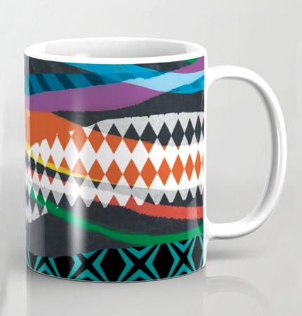 Mug Wave Blaze pattern