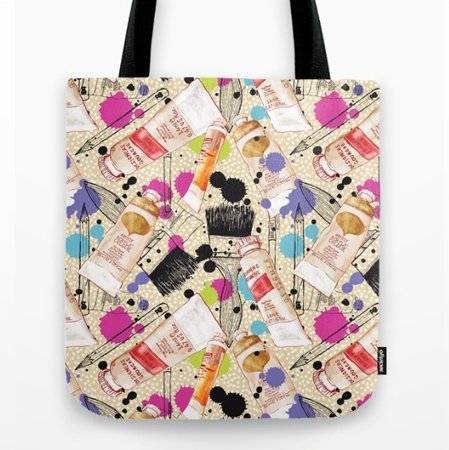 tote bag, paints, artist, painter,colourful, bright pattern, paint