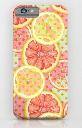 Phone Case fresh & fruity tropical, grapefruit ,summery