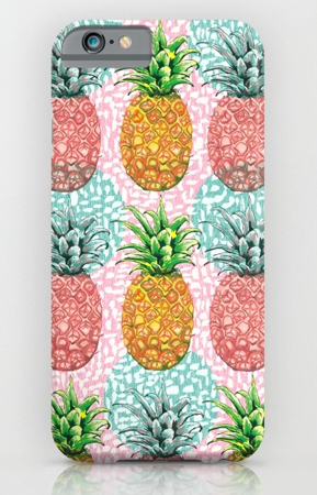 Phone Case pineapple candy, tropical pattern, candy colours