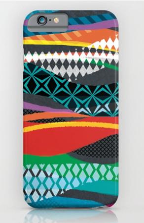 Phone Case design Wave Blaze geometric stripe pattern