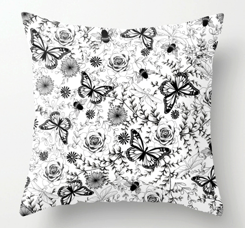 Pillow Butterflies And Bees