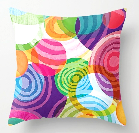 Pillow Circle-Vicious Sweetie pattern design