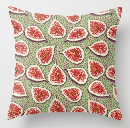 Figs pattern, food, fruit, food pattern, cushion, pillow