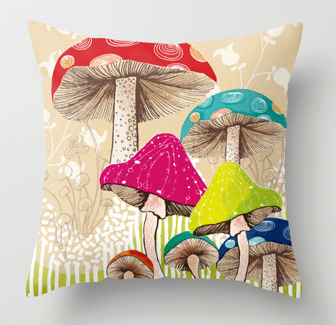 Pillow Magical Mushrooms