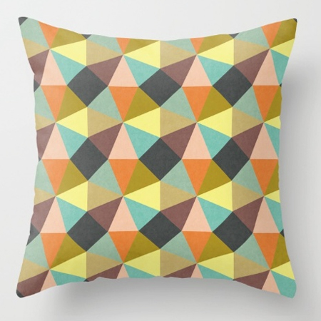 Pillow Simply Symmetry geometric pattern design cushion