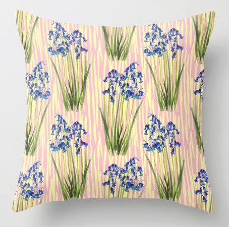 Pillow bluebell meadow