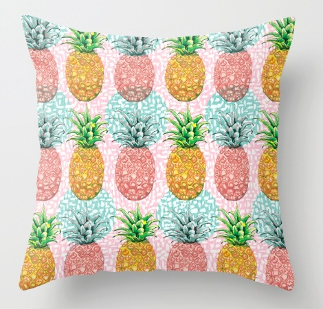 Pillow pineapple pattern tropical print pattern