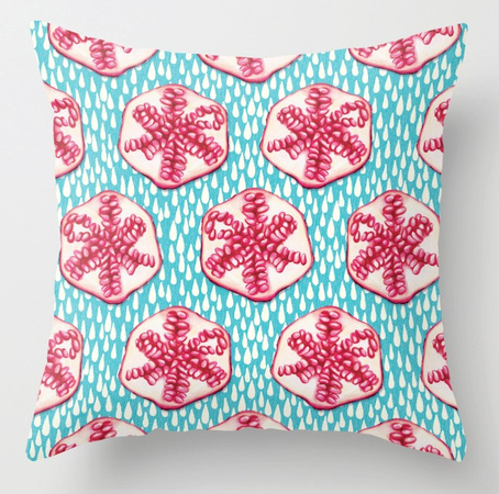 Pillow pomegranate pattern