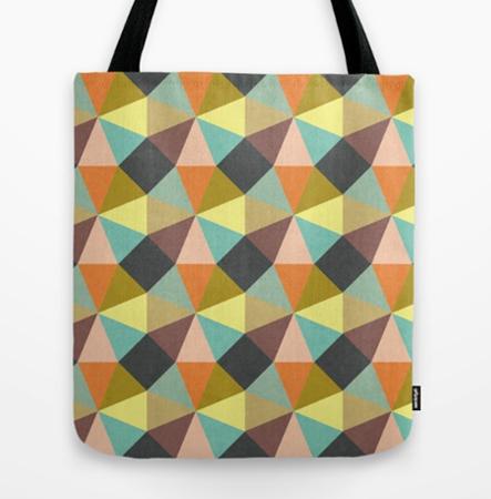 Simply Symmetry pattern design geometric Tote Bag