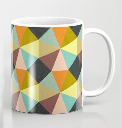 Pillow Simply Symmetry geometric pattern design mug