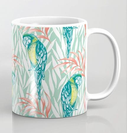 Tropical pastels mug
