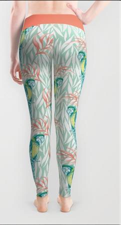 Tropical pastel leggings