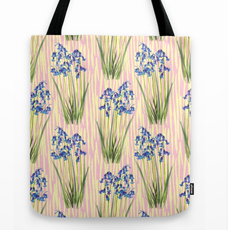 bluebell meadow tote