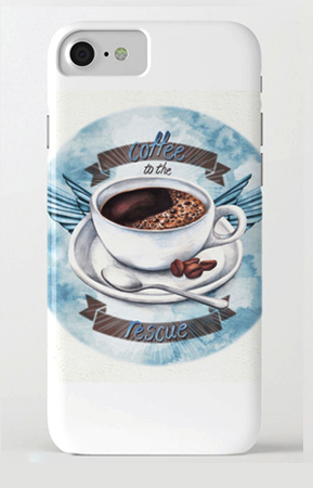 coffeee to the rescue phone cover