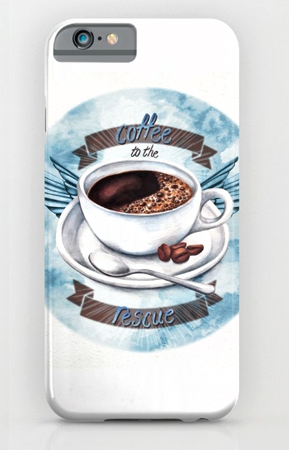 coffeee-to-the-rescue phone-cover