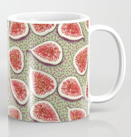 fig pattern mug
