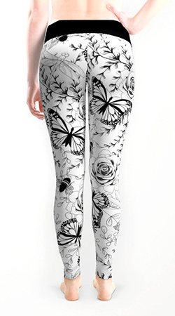 leggings Butterflies and bees