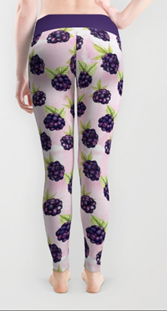 leggings blackberries pattern